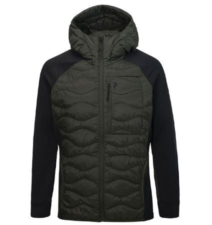2018 PeakPerformance Helium Hybrid Hood Jacket Forest Night