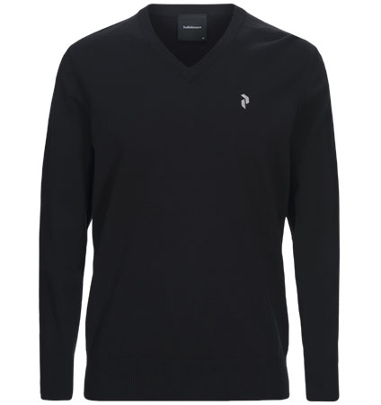 PeakPerformance Classic V-Neck Black
