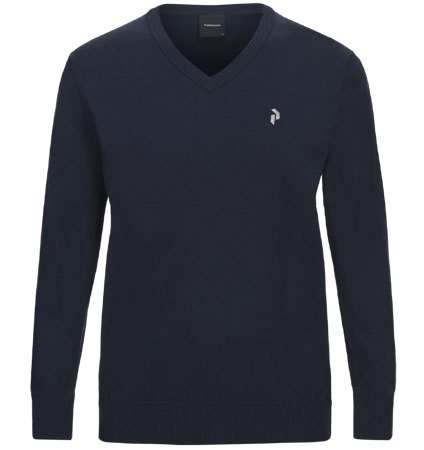 PeakPerformance Classic V-Neck Blue Shadow