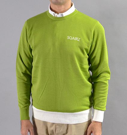 SQAIRZ SQKTB-01 Crew Neck Sweater Lime