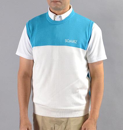 SQAIRZ SQKTB-02 Crew Neck Vest Blue/White
