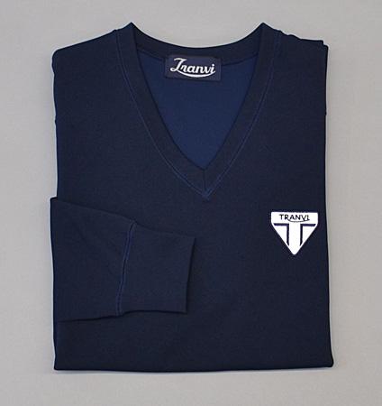 Tranvi TRCTB-06 V-Neck Stretch Pullover Navy