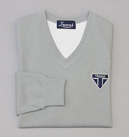 Tranvi TRCTB-06 V-Neck Stretch Pullover Gray