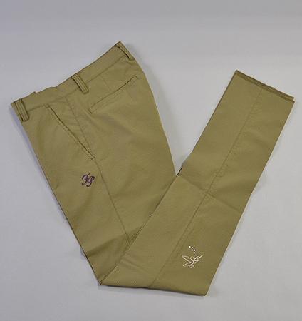 Fairy Powder FP19-1201 Check Seersucker Pants Khaki