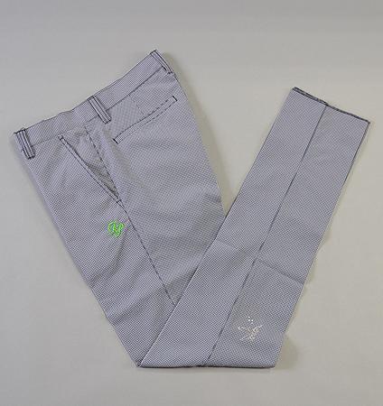 Fairy Powder FP19-1201 Check Seersucker Pants Navy