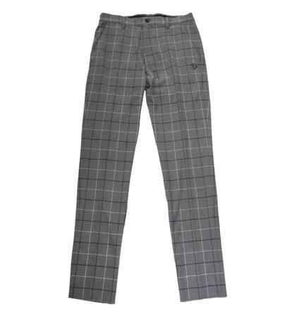 Fairy Powder FP19-5201 Check Slim Pants Gray