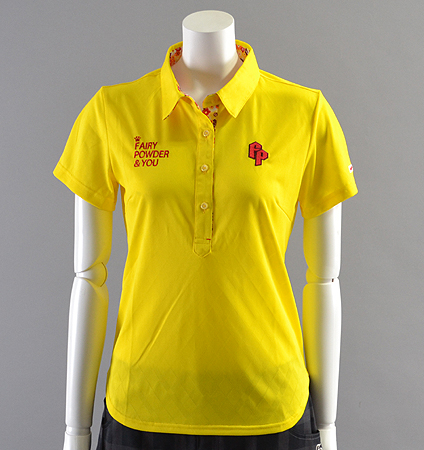 2018 Fairy Powder FP18-2108 Argyle Mesh Polo Yellow