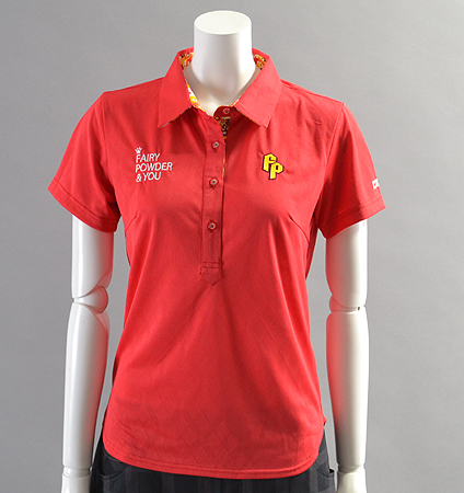 2018 Fairy Powder FP18-2108 Argyle Mesh Polo Red