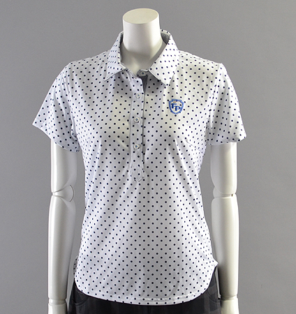 2018 Fairy Powder FP18-2109 Dots Print Polo White