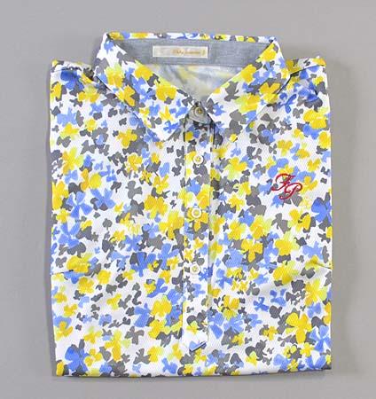 Fairy Powder FP19-2104 Women's Print Polo Yellow