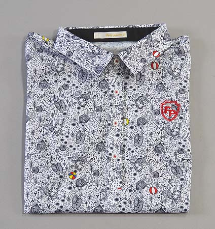 Fairy Powder FP19-2108 Women's Circus Print Polo White