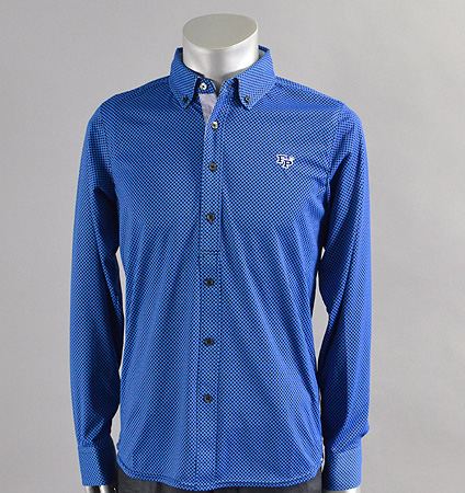 2017 Fairy Powder FP17-1101 Long Sleeve Print Polo Blue