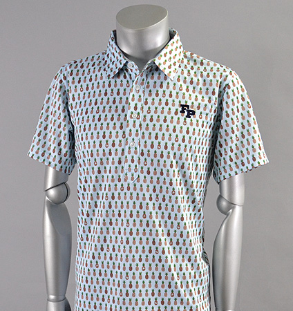 2017 Fairy Powder FP17-1109 Pineapple Print Polo Blue