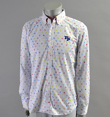 2017 Fairy Powder FP17-5100 Long Sleeve Print Polo White/Multi