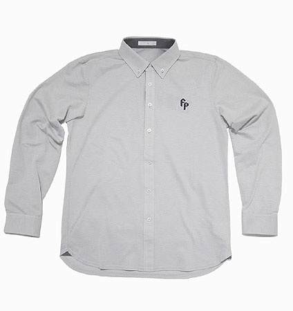 2018 Fairy Powder FP18-1100 Long Sleeve Pique Polo Gray