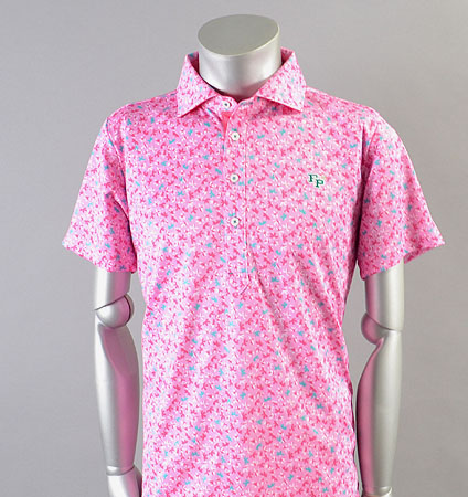 2018 Fairy Powder FP18-1107 Leaf Print Polo Pink