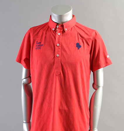 2018 Fairy Powder FP18-1110 Argyle Mesh Western Polo Red