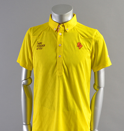 2018 Fairy Powder FP18-1110 Argyle Mesh Western Polo Yellow