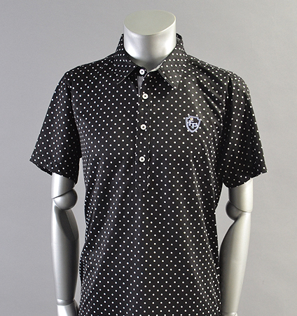 2018 Fairy Powder FP18-1111 Dots Print Polo Black