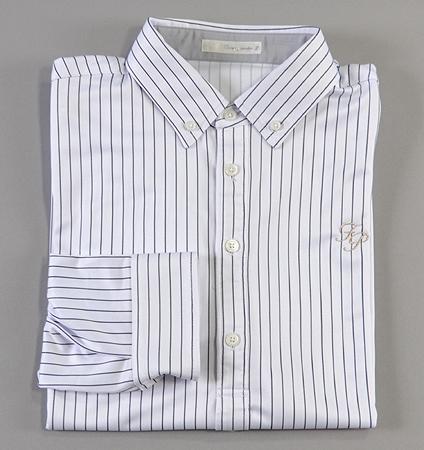 Fairy Powder FP18-5100 Stripe Long Sleeve Polo White
