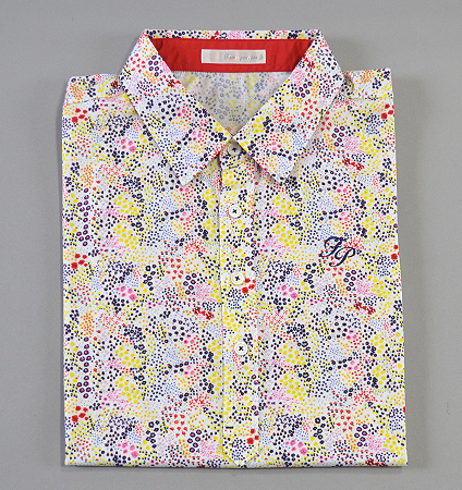 Fairy Powder FP19-1110 Flower Print Polo White