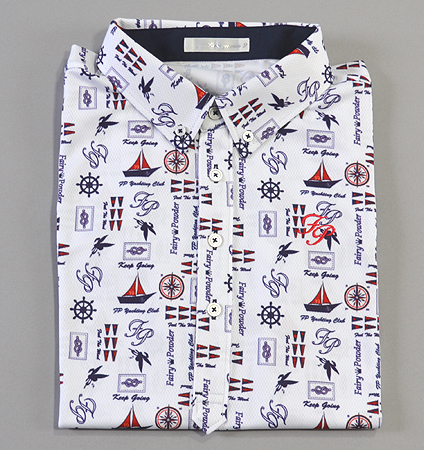 Fairy Powder FP19-1106 Marine Print Polo White