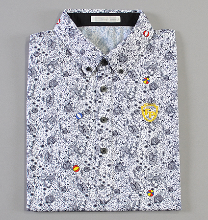 Fairy Powder FP19-1108 Circus Print Polo White