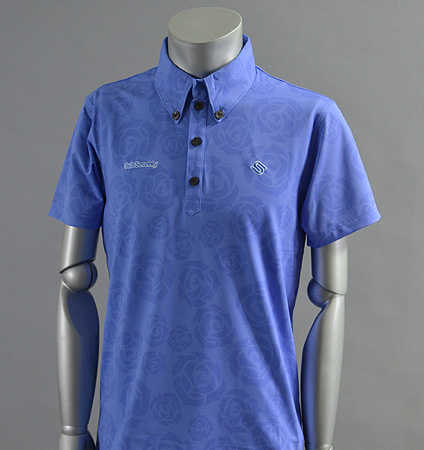 2017 SubSeventy AS10096 Rose Print Polo Blue