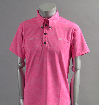 2017 SubSeventy AS10096 Rose Print Polo Pink