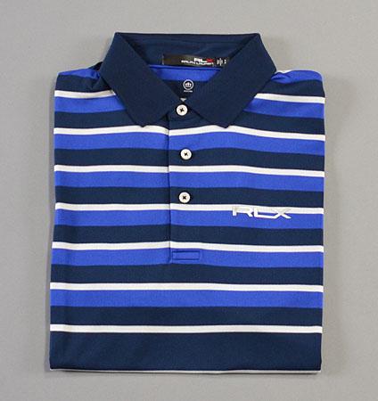 RLX Lightweight Stripe Polo Navy/Blue