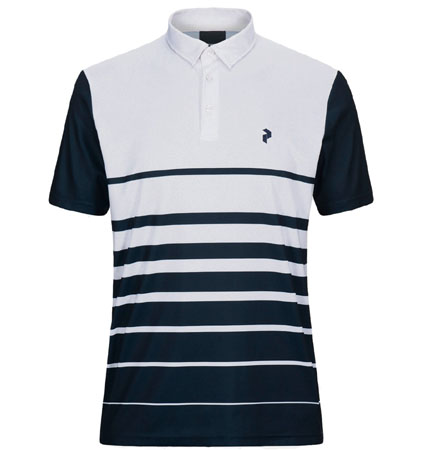 PeakPerformance Bandon Print Polo White