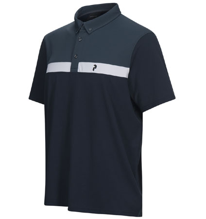 PeakPerformance Panmore Button Down Polo Blue Shadow
