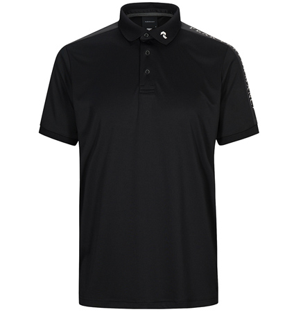 2020 PeakPerformance Player Polo Short Sleeve Black