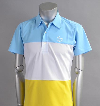 SQAIRZ SQSHB-07  3 Panel Shirts Sax/White/Yellow