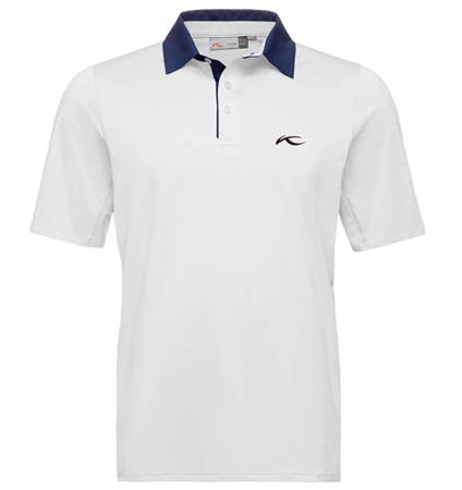 KJUS MEN JP SUPERLOAD POLO WHITE/NIGHT BLUE