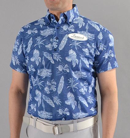 Tranvi TRSHB-027 BD Original Aloha Shirts Navy