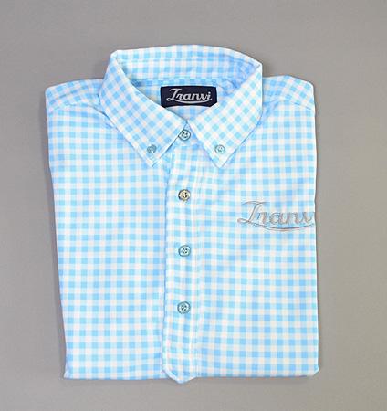 Tranvi TRSHB-034 BD Original Check Shirts Sax Blue