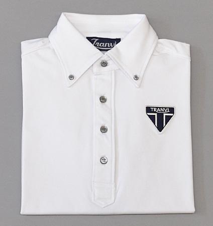 Tranvi TRSHB-037 Primeflex Back Stripe  Shirts White