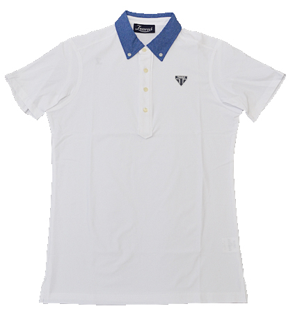 Tranvi TRSHB-042 Dot Air BD Shirts White/Blue