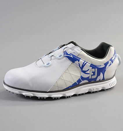2018 FootJoy Pro/SL BOA Custom White/Blue Aloha/White Silver Sphinx