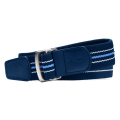 KJUS  UNISEX D_RING STRIPE WEB_ BELT NIGHT BLUE