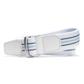 KJUS  UNISEX D_RING STRIPE WEB_ BELT WHITE