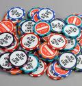 """NO GOLF NO LIFE"" Poker Chip Ballmarker"