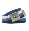 KJUS  UNISEX SQUARE WEBBING BELT White/Blue/Navy