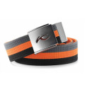 KJUS  UNISEX SQUARE WEBBING BELT Gray/Orange/Black