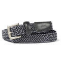 KJUS  UNISEX CLASSIC WEB BELT NARROW NIGHT BLUE W/LAME