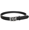Fairy Powder FP20-1700 FP Logo Buckle Leather Belt Black