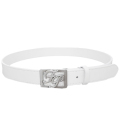 Fairy Powder FP20-1700 FP Logo Buckle Leather Belt White