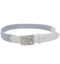 Fairy Powder FP20-1702 FP Logo Buckle Mesh Belt Gray