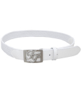 Fairy Powder FP20-1702 FP Logo Buckle Mesh Belt White